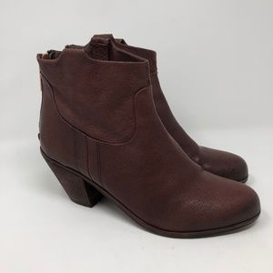 Sam Edelman Red Leather Lisle Ankle Boots 10M